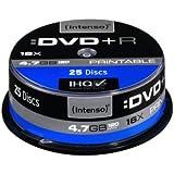 Intenso 4811154 - Tarrina de 25 unidades imprimibles DVD+R (4.7 GB, 16x)