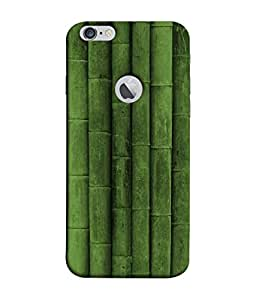PrintVisa Designer Back Case Cover for Apple iPhone 6S (Logo View Window Case) (Bamboo row Bamboo)
