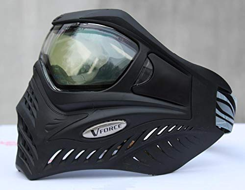 VForce Grill Paintball Maske Shadow Schwarz klares Thermal Glas
