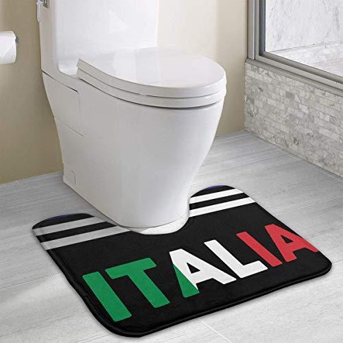 (Hoklcvd Italia Italy Italian Flag U-Shaped Toilet Floor Rug Non-Slip Toilet Carpets Shower Mat)