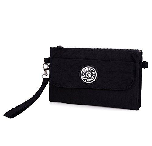 Outreo Handtasche Damen Schultertasche Mode Umhängetasche Wasserdicht Taschen Leichter Reisetasche Kleine Messenger Bag Schwarz