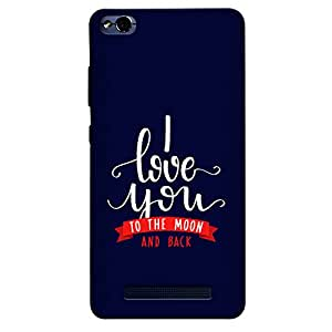 DASM United Redmi 4A Premium Back Case Cover - I Love you to the moon