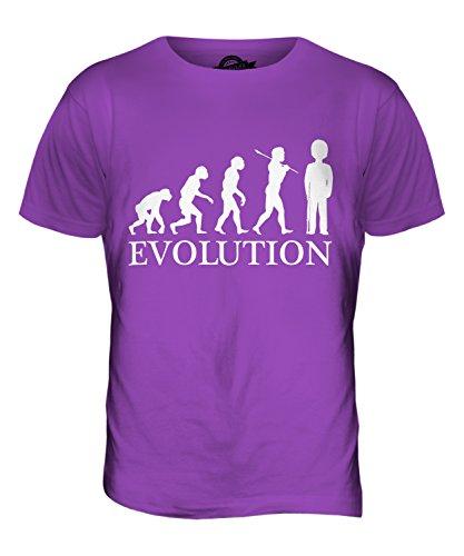 CandyMix Garde Königliche Wache Evolution Des Menschen Herren T Shirt Violett