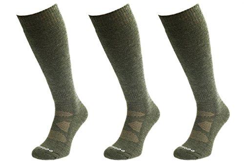 Comodo® HUN2 - Set de 3 Calcetines DE Caza Largo, Mondo-Calza Farbe:Khaki Mondo-Calza Größen:39-42