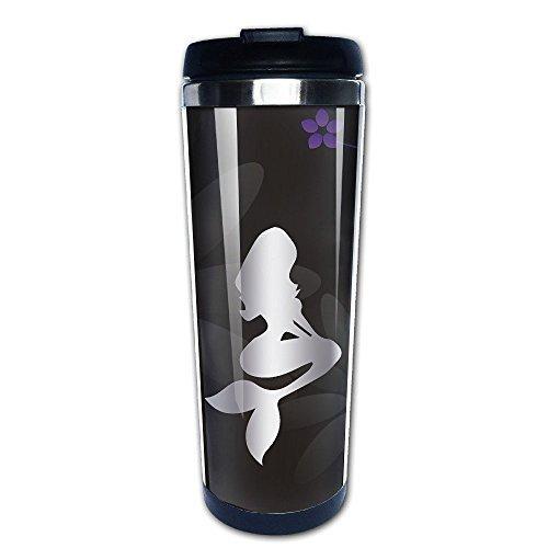 Stainless Steel Mermaid Platinum Style Tumbler Coffee Mug by HINVIREG