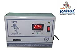 Rahul Digi 1090 a 1 KVA/4 AMP 90-280 Volt Air Coolers/Computers/Washing machine/Refrigerator 185 Ltr to 290 Ltr Automatic Digital Voltage Stabilizer