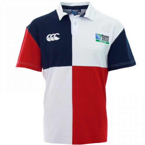 Canterbury rugby world cup 2015 harlequin jersey rugby junior, bianco/blu/rosso, 10 anni