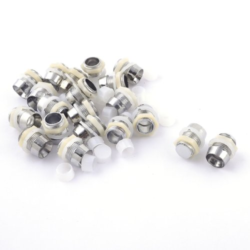 Sourcingmap - 20 pezzi tono argento hanno condotto il supporto
