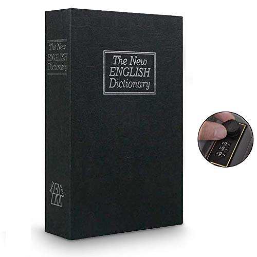 Langtor Caja Fuerte para Libros con Cerradura de Combinación, Caja Fuerte Portátil, Ideal para Guardar...