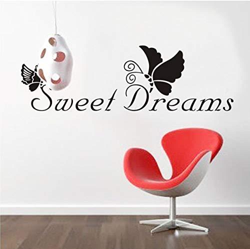 Xlei adesivi murali sogni d'oro/farfalle proverbi inglesi adesivi murali per pareti con decorazioni domestiche sul muro50x70cm