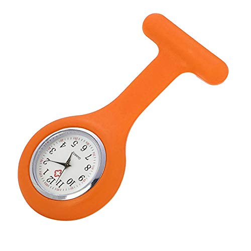 Patifia Uhr, Silikon-Krankenschwester-Uhr-Brosche-Tunika-Taschenuhr mit freiem Batterie-Doktor Schlüsselanhänger medizinischem Quarzuhr Neues Muster Print Krankenschwester Uhr