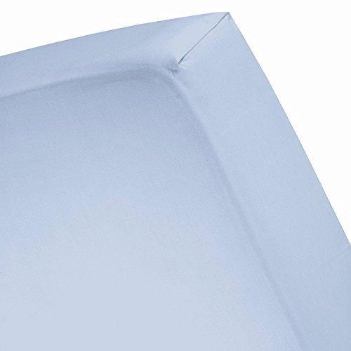 Massiv Elegant 1-pc Spannbetttuch Extra Long Fit bis zu 25,4cm Zoll Tiefe Pocket Fadenzahl 1000'- 100% Ägyptische Baumwolle in 9Größen und 31Farben., baumwolle, himmelblau, Twin (Bed Rock Twin Long Extra)