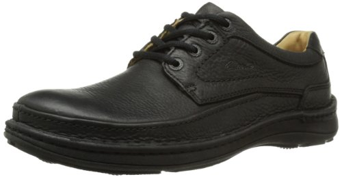 Clarks Nature Three, men Derby, Black (black Leather), 7.5 UK (41.5 EU)