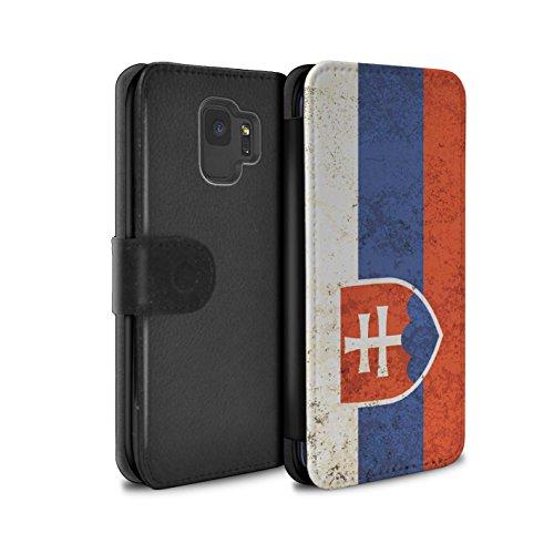 Stuff4® PU-Leder Hülle/Case/Tasche/Cover für Samsung Galaxy S9/G960 / Slowakei/Slowakisch Muster/Flagge Kollektion