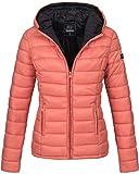 Marikoo Damen Jacke Steppjacke Übergangsjacke gesteppt B651 [B651-Luc-Coral-Gr.L]