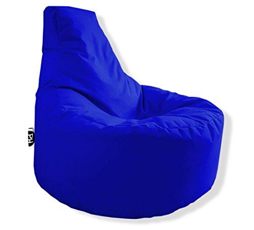 Patchhome Gamer Kissen Lounge Kissen Sitzsack Sessel Sitzkissen In & Outdoor geeignet fertig befüllt - Blau - in 25 Farben