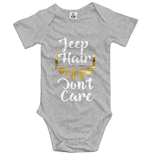 Proud Clothing Newborn Infants Baby Jeep Hair Don't Care Design Short Sleeve Bodysuit Rompers Baby Creeper Onesies Onesies 6 Months - 1. Christmas Infant Creeper