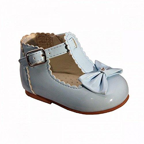 Mellow Be , Baby Mädchen Lauflernschuhe weiß cremefarben UK 2, (Euro 18) babyblau