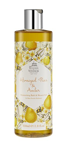 Yardley London Woods of Windsor Honeyed Pera e Ambra idratante da bagno e gel doccia 350 ml