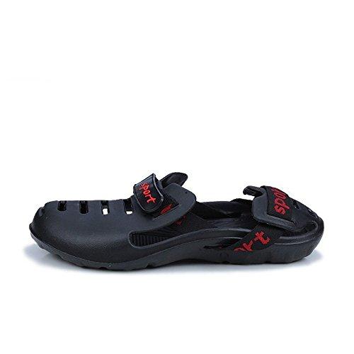 Xing Lin Chaussures D'Été Hommes Chaussons D'Été Chaussures De Plage Hommes Nouveaux Creux Trou Respirant Chaussures Sandales Hommes black