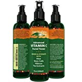 (8 oz) Vitamin C Facial Toner Spray with Aloe Vera, Green Tea Extract, Vitamin B5, Vitamin C and Vitamin E - Advanced 100% All Natural Organic Anti Aging Pore Minimizer for Face Skin and Neck