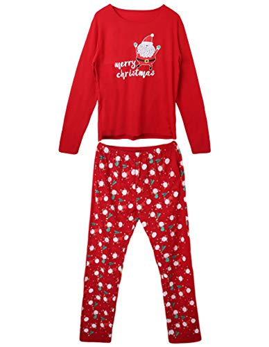 Xmas Nightwear Parent-Child Pajamas - Christmas Sets Matching Family Home Wear Long Sleeve Santa Sleepwear Men Women Kids Clothing