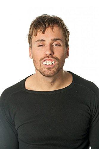Lustige schiefe Zähne Pferdegebiss Kostümzubehör falsches Gebiss Nerd (Für Erwachsene Nerd Kostüme)