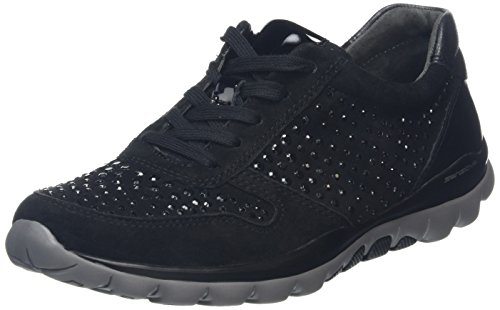 Gabor Shoes Rollingsoft, Sneakers Donna Nero (Schwarz 47)