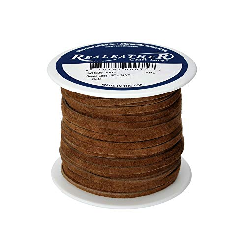 Realeather Crafts Leder Wildleder Lace Spool-Dark braun (Spool Lace Ribbon)
