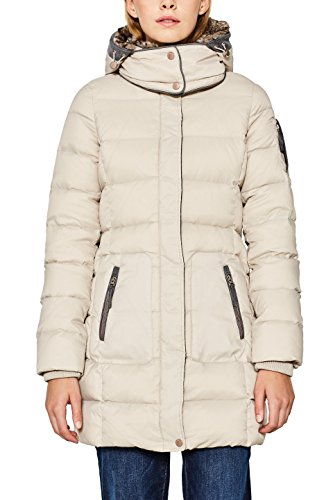 Esprit 097ee1g045, Manteau Femme, (Light Beige 290), Medium