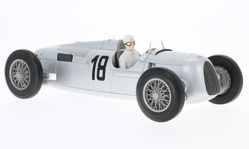 Minichamps 1553610181: 18AUTO UNION Typ C–Bernd Rosemeyer–Winner Internationales Eifelrennen 1936