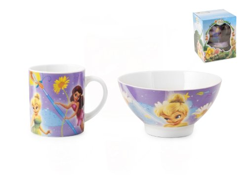 Disney Home Set Scodella + Tazza Fairies