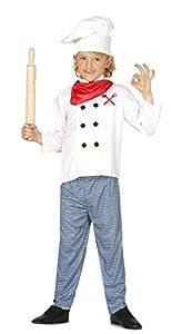 Guirca - Disfraz de cocinero, talla 10-12 años, color blanco (83364)