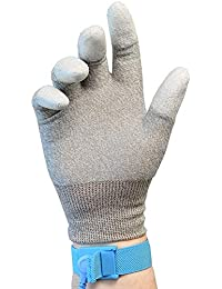 Otovon® ESD Anti Static Top Fit Finger PU Coated Hand Gloves