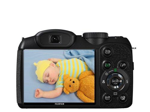 Fujifilm Finepix S1800 Digitalkamera (12 Megapixel, 18-fach opt.Zoom, 7,6 cm Display, Bildstabilisator) schwarz - 3