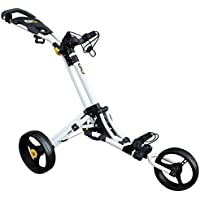 iCart Go - 3 Wheel Push Trolley White/Yellow