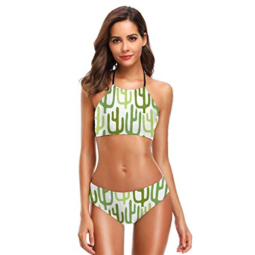 Women's Halter Bikini Set 2 Piece Cockchafers Swimsuit Beach Suit M
