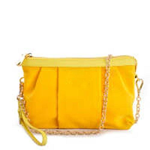 WU Zhi Donne Sacchetto Di Spalla Impermeabile Nylon Yellow