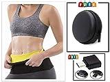 FAMEWORLD Sweat Shaper Belt, Belly Fat Burner for Men and Women (Large)
