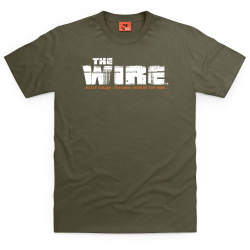 Official The Wire T-Shirt - Rules, Herren Olivgrn