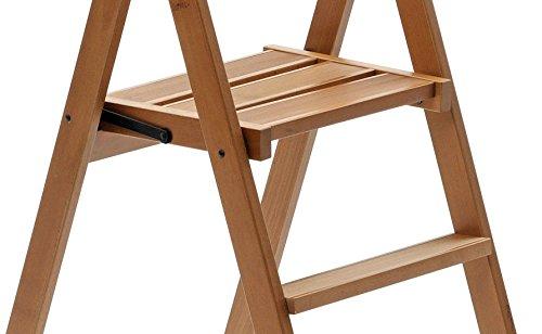 Arredamenti Italia Kimora 3 Step Ladder, Cherry Wood, Brown, Double