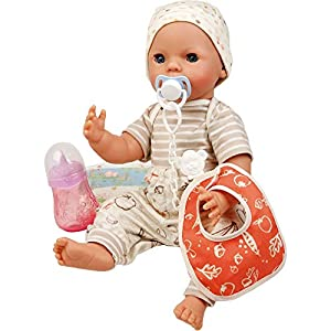 Schildkröt 1440861 40 Trink + Näßbaby Finn - Bebé de Juguete (tamaño 40 cm, Color Blanco, Beige y Naranja