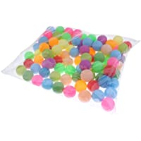 Baoblaze 100 x Balle de Décoration Fête Carnivale Tennis de Table Ping Pong Beer Pong - 40mm Couleur Mixte