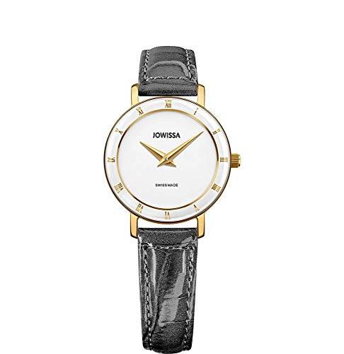 Jowissa Roma Swiss J2.283.S - Reloj de Pulsera para Mujer, Color Blanco, Gris y Dorado