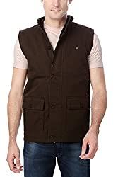 Peter England Mens Regular Fit Outerwear_ EOW51500504_M_ Brown