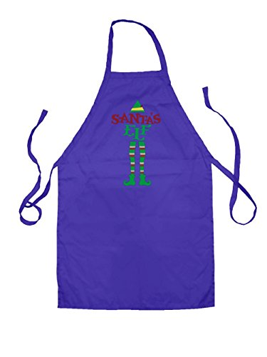 Dressdown Weihnachtself - Unisex Schürzen Passend Für Erwachsene - Lila - Eine Größe (Buddy Elf Für Erwachsenen Kostüm)