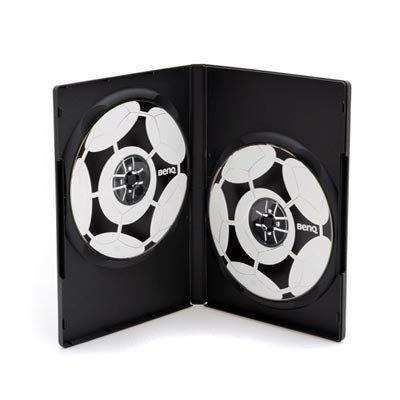 MediaRange BOX12 Custodia Doppia a 2 Posti per CD o DVD, Colore: Nero (50 pezzi)