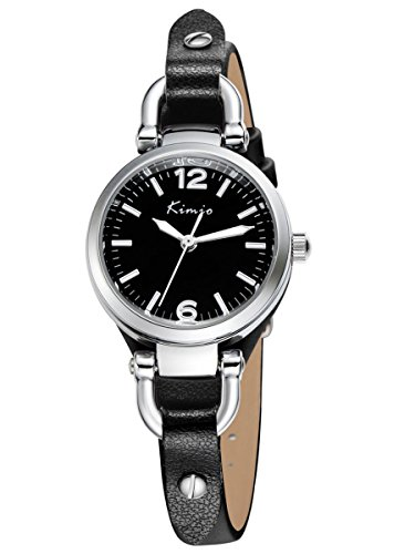 Alienwork Quarz Armbanduhr Armreif Kette wickeln Quarzuhr Uhr vintage elegant schwarz Leder YH.KW545S-01
