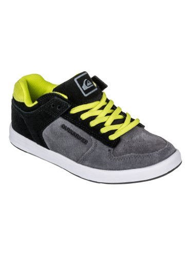 Quiksilver Little Burnside B Sl Gbes, Chaussures de skate garçon Gris (Grey Blk Green)