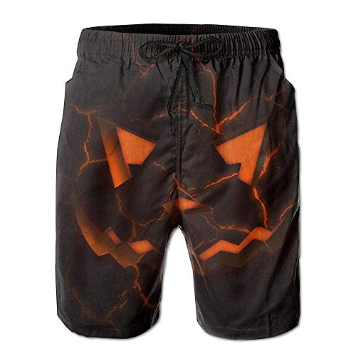 WITHY Mens Beach Shorts, Scary Halloween Art Miami Cute Shorts for Men Boys, Outdoor Short Pants Beach Accessories,(XL)